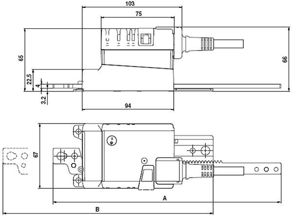Технические характеристики электроприводов Belimo LH230A для управления воздушными заслонками и заслонками скольжения.