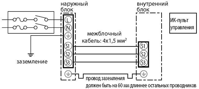 Схема соединений внутреннего и