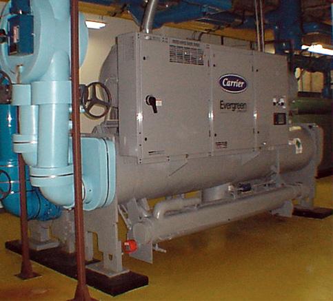 ...потребляя газ, вырабатывает электричество, горячую воду и, посредством абсорбционной холодильной машины (АБХМ)...