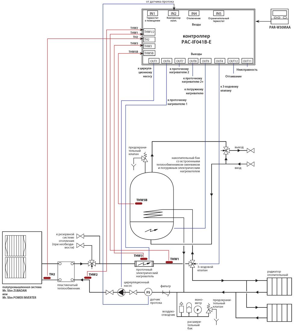 Электрическая схема кондиционера mitsubishi electric