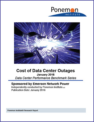 Cost of Data Center Outages 2016